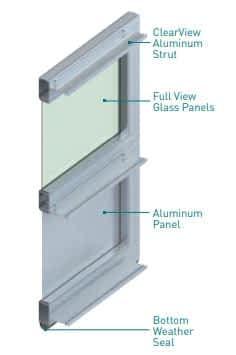 "alt=""amarr vista door construction diagram"""