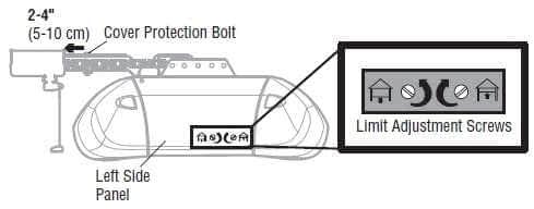 garage door opener repair, manual travel adjustment