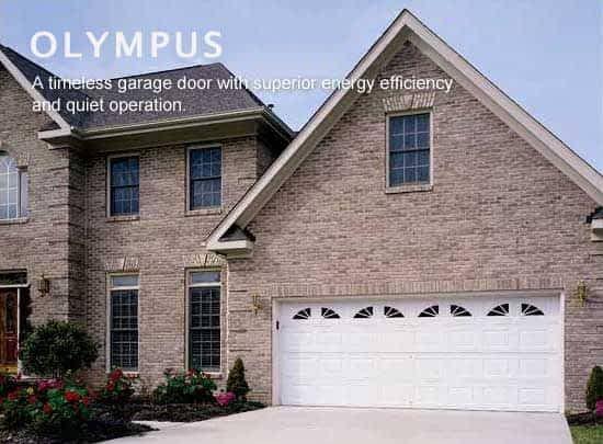 """alt="""" Amarr Olympus 3000 door in white"""""""