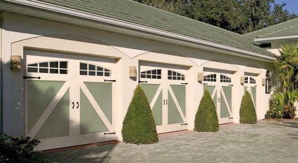 """alt=""""amarr carriage style garage door."""""""