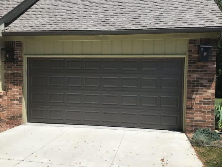 """alt=""""safe-way double garage door in terratone"""""""