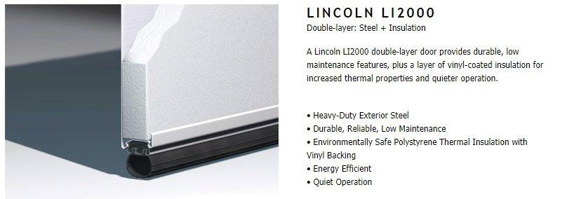 """alt=""""Lincoln 2000 door construction for Amarr garage doors"""""""